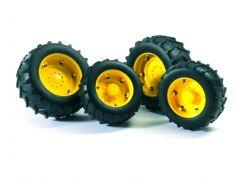 Bruder 02321 Dvojitá kola pro traktory řady 2000 žlutá