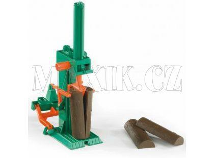 Bruder 02339 Štípačka dřeva za traktor + 4 ks špalky