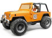 Bruder 02541 Jeep Cross Country oranžový s figurkou
