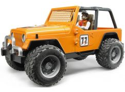 Bruder 02541 Jeep Cross Country oranžový s figurkou