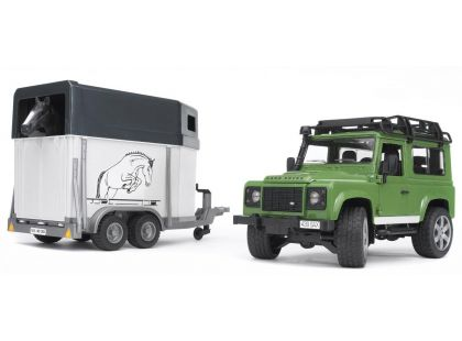 BRUDER 02592 Land Rover+přepravník na koně - II. jakost