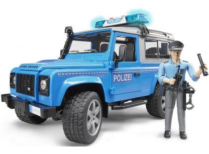 Bruder 02597 Policejní Land Rover Defender s policistou