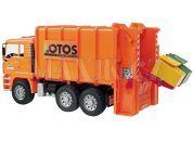 Bruder 02762 Popelář MAN-LOTOS oranžový