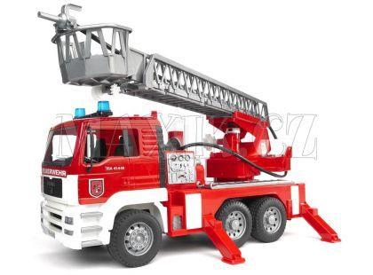 Bruder 02771 Hasiči MAN požární žebřík+maják+zvuk