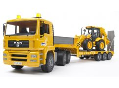Bruder 02776 Nákladní auto MAN návěs + traktor JCB- Poškozený obal
