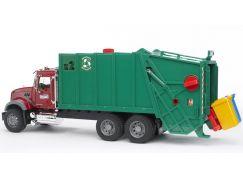 Bruder 02812 Nákladní auto MACK Granit popelář zelený