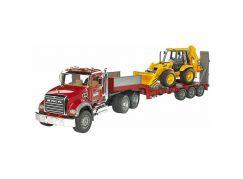 Bruder 02813 Nákladní auto Mack Granit návěs+traktor JCB