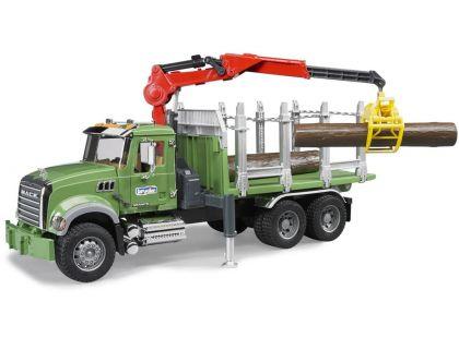 Bruder 02824 Auto Mack Granit - přepravník dřeva