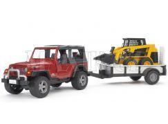 Bruder 02924 Jeep Wrangler s vozíkem a Bob Catem