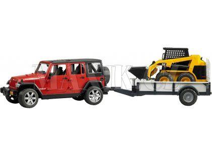 Bruder 02925 Jeep Wrangler Unlimited Rubicon s valníkem a nakladačem