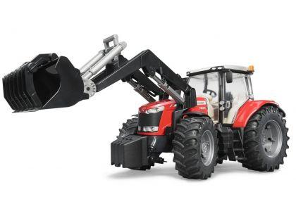 Bruder 03047 Traktor Massey Ferguson 7624 s čelním nakladačem