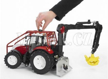 Bruder 03092 Traktor Steyr CVT 6230 lesnický s nakládacím ramenem a navijákem