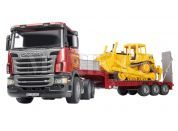 Bruder 03555 Nákladní auto Scania návěs + buldozer