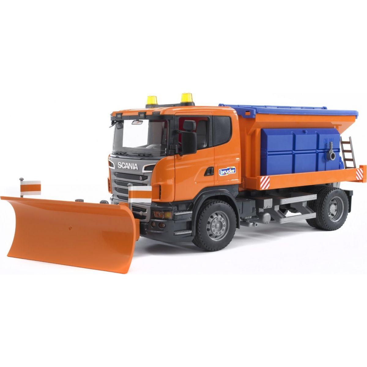 Bruder 03585 Nákladní auto Scania sypač s radlicí