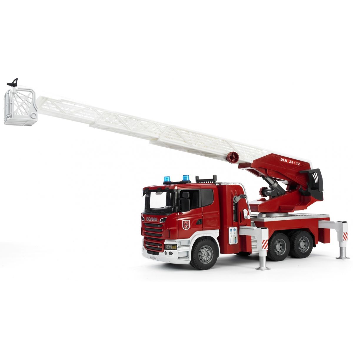 Bruder 03590 Nákladní auto Scania Požární žebřík - hasiči