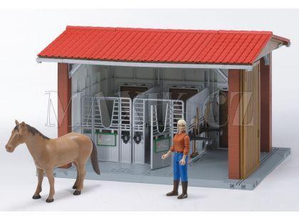 Bruder 06252 Koňské stáje pro koně, kůň a figurka