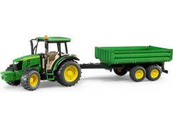 Bruder 1793 Traktor John Deere 5115 s přívěsem a lžicí