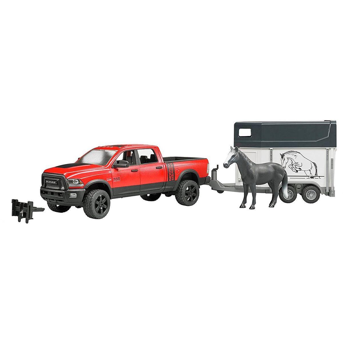 Bruder 2501 Pick up Ram 2500 + přívěs s koněm