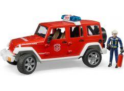 Bruder 2528 Jeep Wrangler Rubicon hasičský s figurkou a příslušenstvím