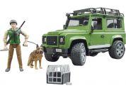 Bruder 2587 Land Rover lesník a pes s výstrojí