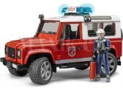 Bruder 2596 Land Rover Defender Hasičské zásahové s figurkou hasiče
