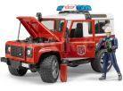 Bruder 2596 Land Rover Defender Hasičské zásahové s figurkou hasiče 2