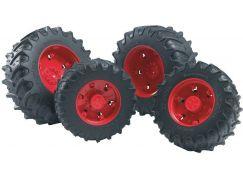 Bruder 3313 Náhradní kola červená pro traktory serie 3000