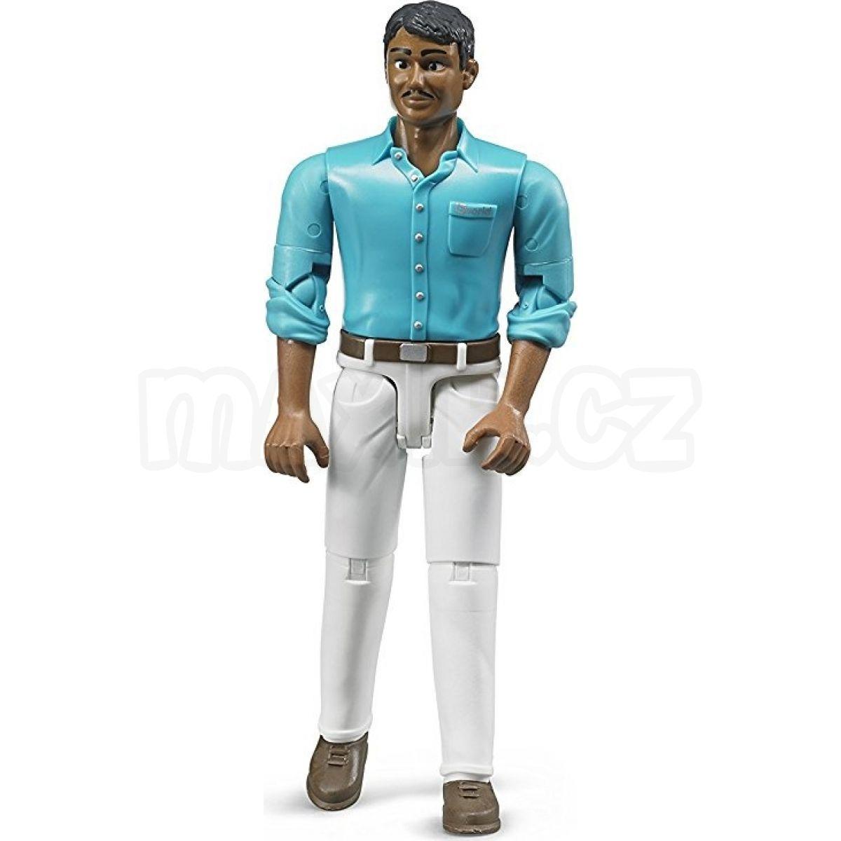 Bruder 60003 Figurka muž tmavé pleti světlé kalhoty 2 ... 371cc57308