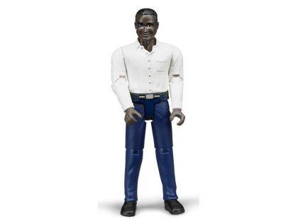 Bruder 60004 Bworld Figurka Muž Černoch tmavě modré kalhoty
