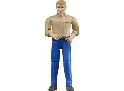 Bruder 60006 Bworld Figurka Muž světle modré kalhoty