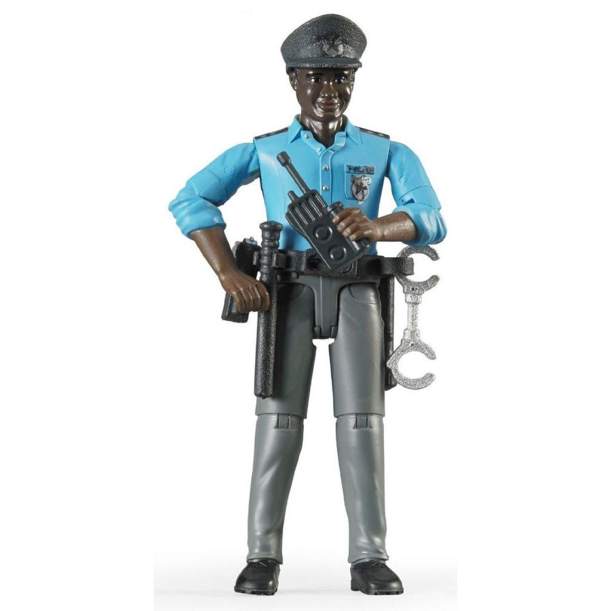 Bruder 60051 Figurka Policista černoch s příslušenstvím