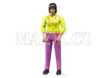 Bruder 60403 Bworld Figurka Žena Černoška růžové kalhoty