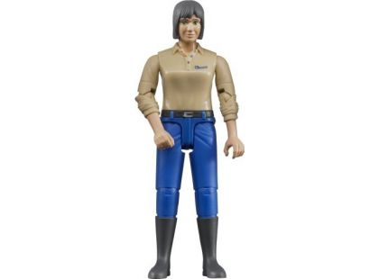 Bruder 60406 Bworld Figurka Žena světle modré kalhoty