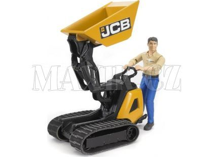 Bruder 62004 Bworld Pásový přepravník JCB s figurkou
