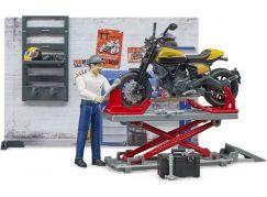 Bruder 62102 Motocyklový servis terénní Ducati a opravář