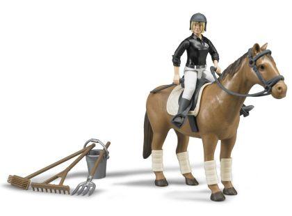 Bruder 62505 Set kůň s jezdkyní a příslušenstvím