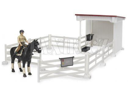 Bruder 62521 Set stáj s ohradou, kůň a figurka