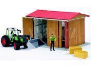 Bruder 62620 Stodola,traktor,figurka,příslušenství