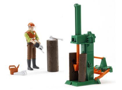 Bruder 62650 Bworld Dřevařský set a figurka