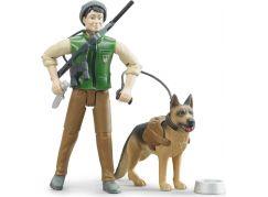 Bruder 62660 Lesník se psem a příslušenstvím
