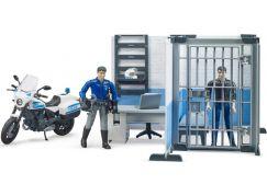 Bruder 62732 Policejní stanice s motorkou a figurkami