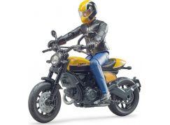 Bruder 63053 Motorka Ducati terénní s motorkářem