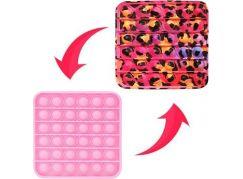 Bubble pops čtverec růžový