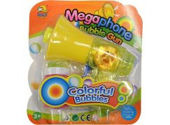 Bublifuk megafon žlutý
