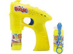 Bublifuková pistole s náplní žlutá