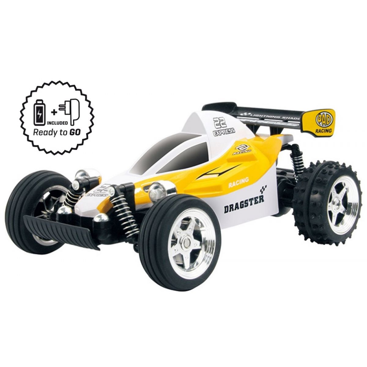 Buddy Toys RC Buggy RtG Yellow - II.jakost