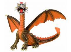 Bullyland 75595 Drak sedící oranžový