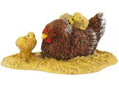 Bullyland Kvočna s kuřaty