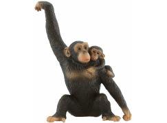 Bullyland Šimpanzice s mládětem