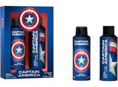 Captain America tělový sprej 200 ml, sprchový gel 250 ml - Poškozený obal